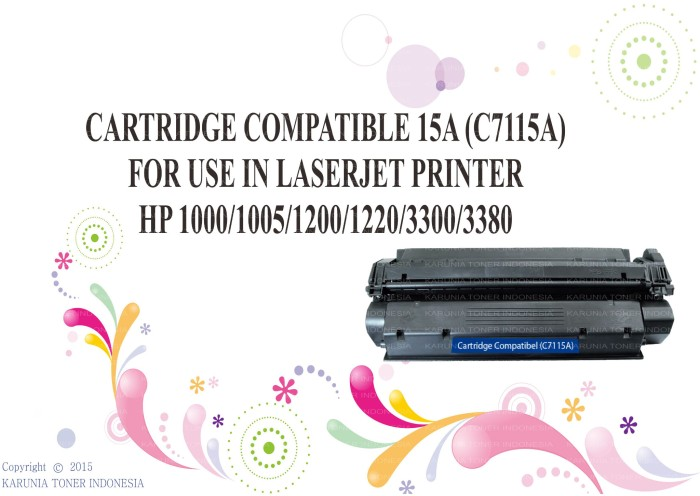 harga Cartridge compatible 15a laserjet printer hp 1000/1005/1200 Tokopedia.com