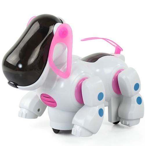 Dog Robot / Mainan Robot Binatang Anjing Warna Pink