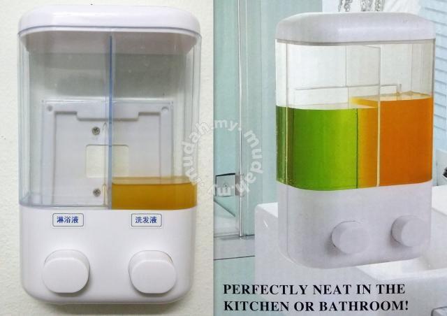 Dispenser sabun 2in1 - dual soap shampoo dispenser