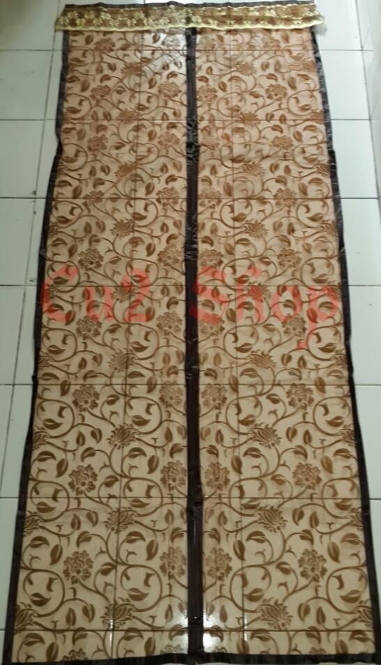 harga Tirai pintu magnet anti nyamuk/import taiwan/motif batik/list jahit Tokopedia.com