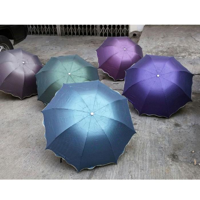 harga Payung lipat kubah modern motif dot warna doff mengkilat Tokopedia.com