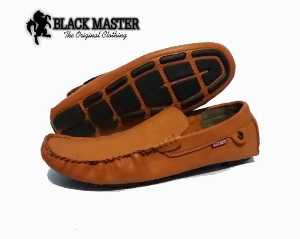 harga Sepatu santai casual slipon kulit black master Tokopedia.com