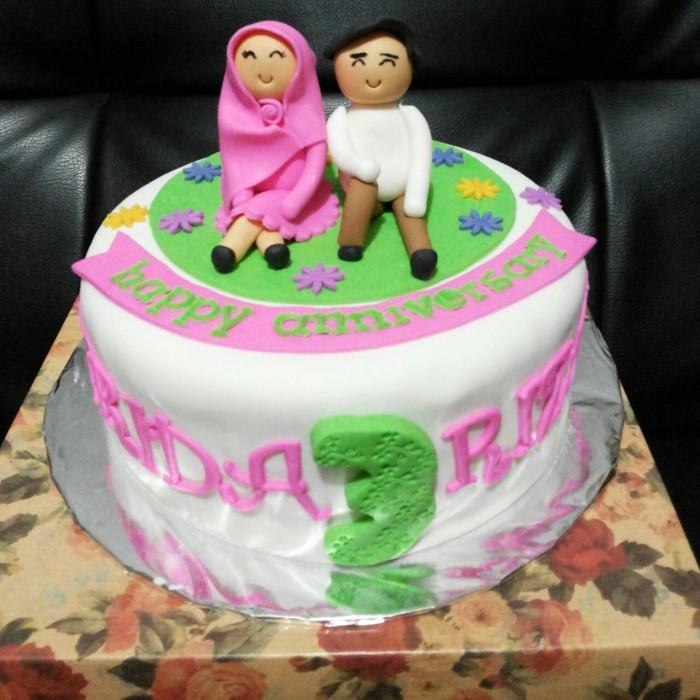 Jual Kue Ultah 3d Untuk Pacar Perempuan Berjilbab Pink Jakarta Timur Kue Ulang Tahun 3d Tokopedia