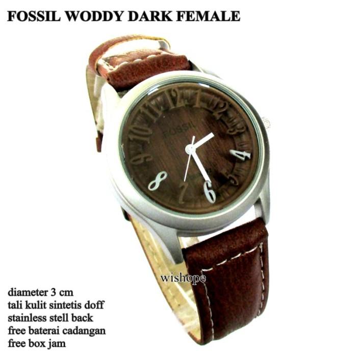 Jam kulit fossil clasic female full set