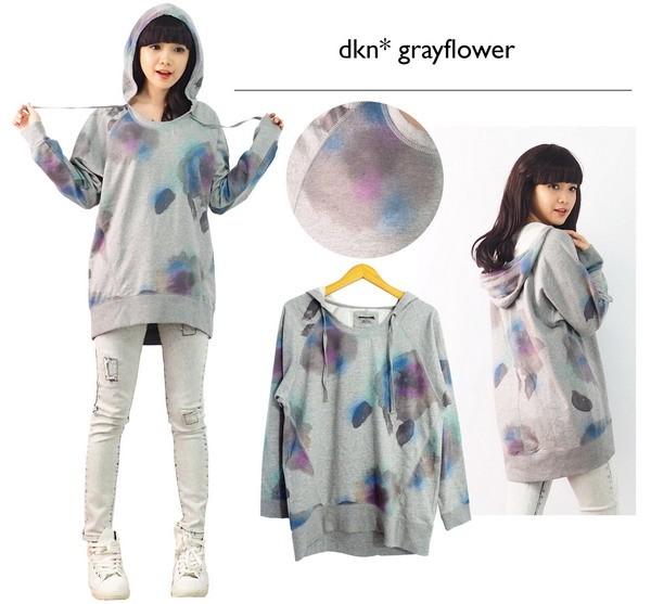 harga Sweater hoodie grey flower abu branded dkny baju wanita katun jaket Tokopedia.com
