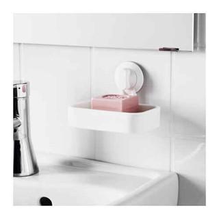 Ikea stugvik tempat sabun dengan plastik hisap - putih