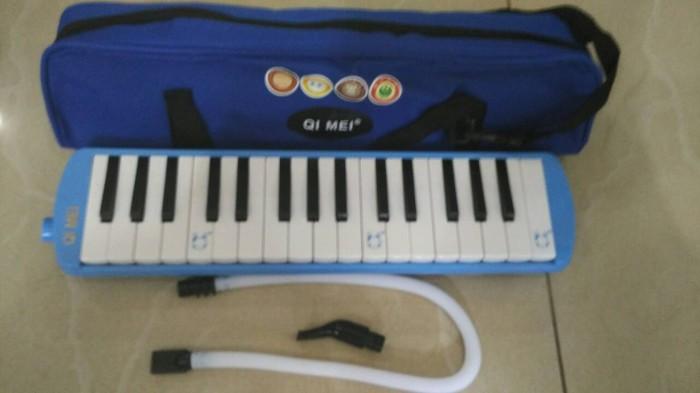 harga Pianika qi-mei melodika blue 32 key+tas Tokopedia.com