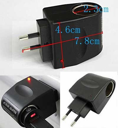 harga Adaptor charger converter ac to dc eu plug car lighter port inverter Tokopedia.com