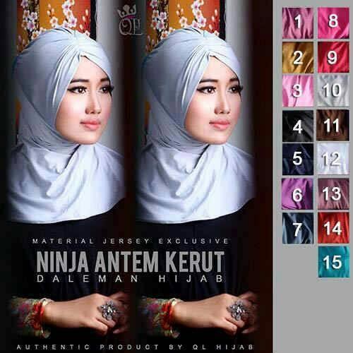 dalaman jilbab / ciput ninja antem kerut bahan jersey