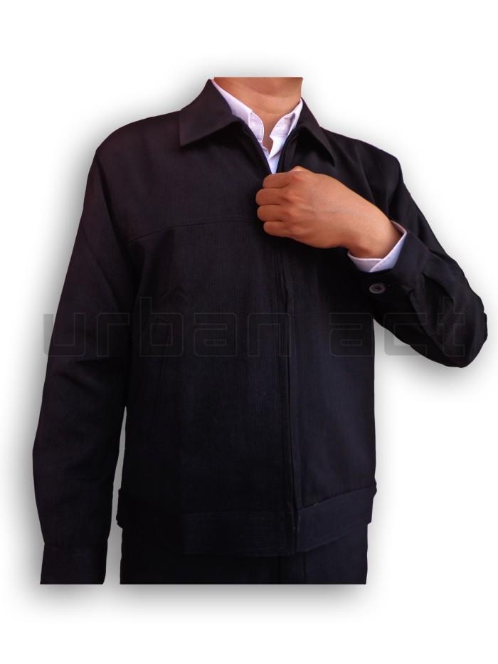 harga Jaket pria manset zipper bahan formal casual Tokopedia.com