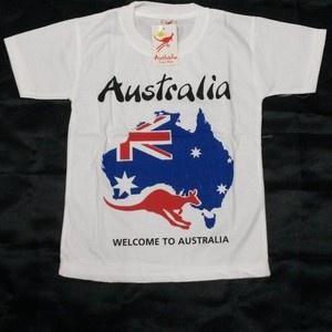 harga Kaos anak australia putih bahan katun halus dan lembut Tokopedia.com