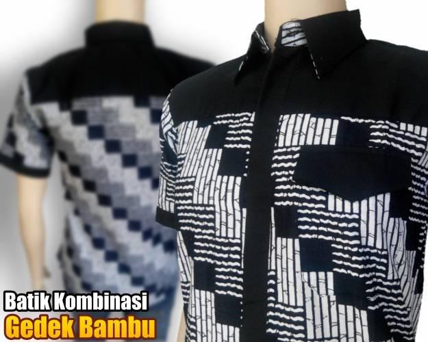 Jual BATIK PRIA Kemeja batik kombinasi modern  Dunia Batik