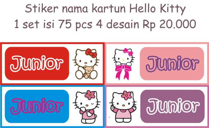 Stiker Lucu Murah Anti Air Kartuno Kitty Xcm