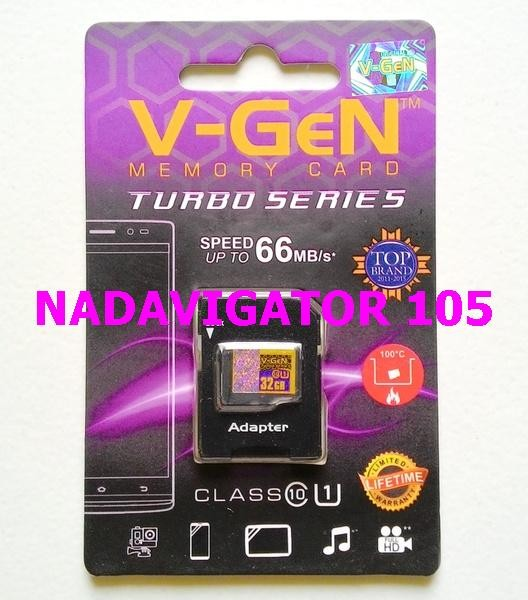 VGEN Micro SD 32 GB Class 10 Turbo + Adapter / V-GEN Micro SD 32GB +