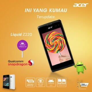 harga Acer liquid z220 - android lolipop ram 1gb rom 8gb - garansi 1 tahun Tokopedia.com