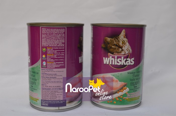 Jual Makanan Kucing Basah Cat Food Whiskas Tuna Wet Can 400g Kab