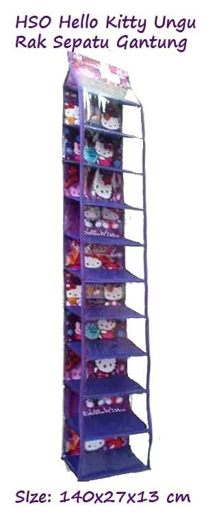 harga Hsoz Hello Kitty Ungu (hanging Shoes Organizer) Rak Sepatu Retsleting Tokopedia.com