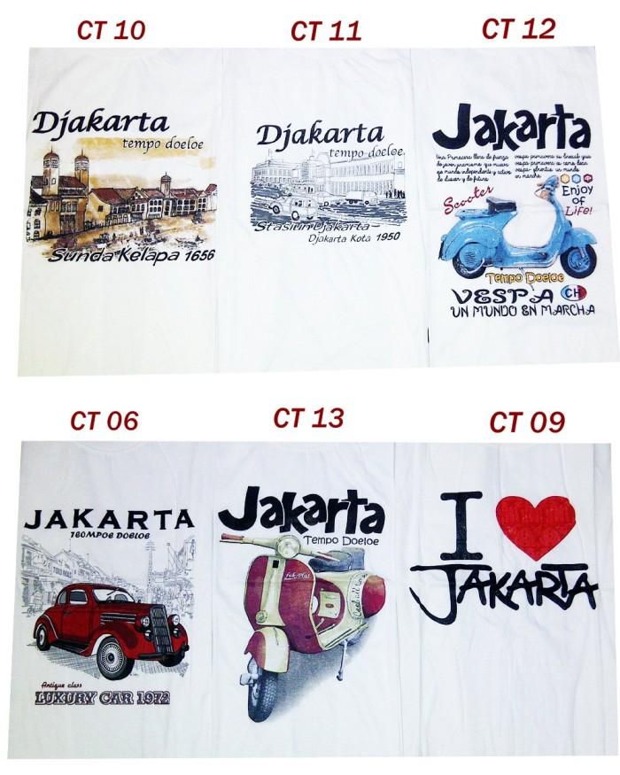 Kaos Oleh-Oleh Khas Jakarta / Basic Men Tee / Banyak Gambar / Size M L