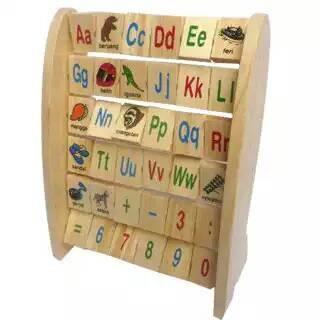 Foto Produk Alphabet berdiri Indonesia, mainan edukatif edukasi kayu anak tk paud dari Edukasi Toys