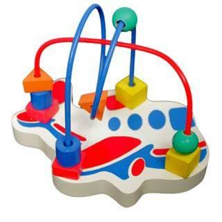 Foto Produk alur kawat pesawat, mainan edukatif edukasi anak kayu SNI murah aman dari Edukasi Toys