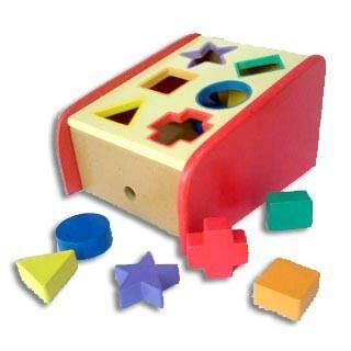 Foto Produk Sliding Geo, mainan edukatif edukasi anak kayu tk paud geometri dari Edukasi Toys
