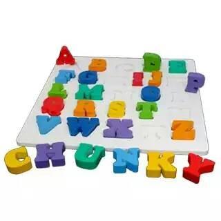 Foto Produk Chunky puzzle huruf Besar, mainan edukatif edukasi anak tk paud dari Edukasi Toys