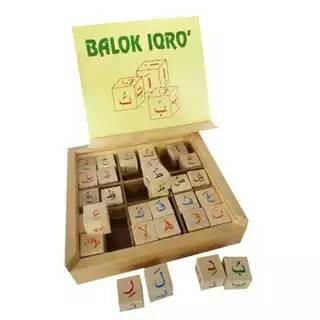 Foto Produk Balok iqro, mainan edukatif edukasi anak kayu tk paud murah dari Edukasi Toys