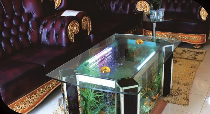 Aquarium Meja Unik Ruang Tamu Atau Penerima