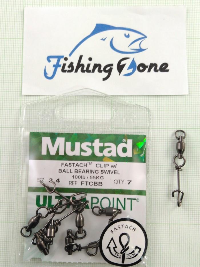 harga Mustad fastach clip w/ ball bearing swivel size#3.4 Tokopedia.com