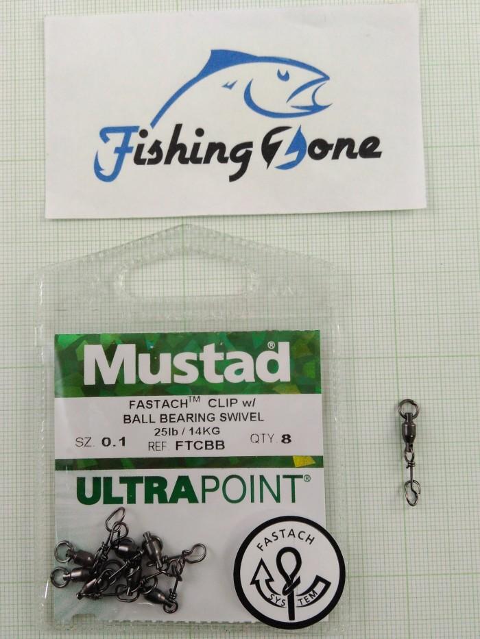 harga Mustad fastach clip w/ ball bearing swivel size#0.1 Tokopedia.com