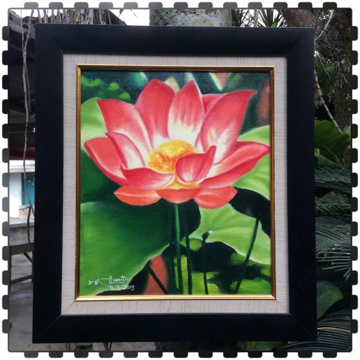 21 Lukisan Bunga Teratai Dengan Cat Air Arti Gambar