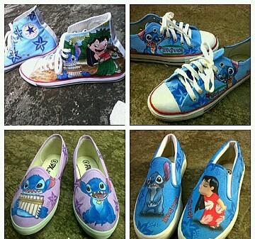Sepatu lukis stitch