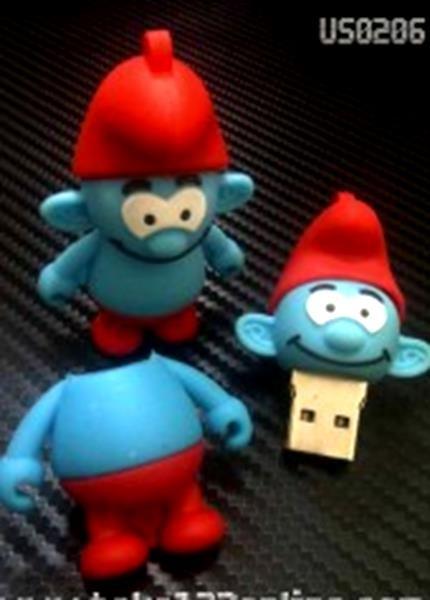 harga Flashdisk unik smurf - bus0206 - 16gb boneka karakter lucu Tokopedia.com