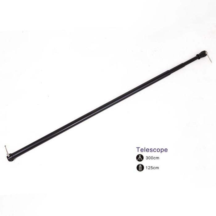 harga Background telescopic adjustable crossbar holder 3.0m - 3 sections Tokopedia.com