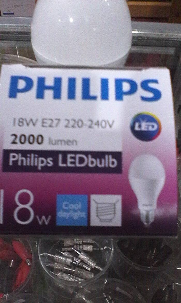 Jual Lampu Led Philips 18 Watt Super Terang Garansi Resmi Original Bohlam 6 Pcs Hinomaru Hemat