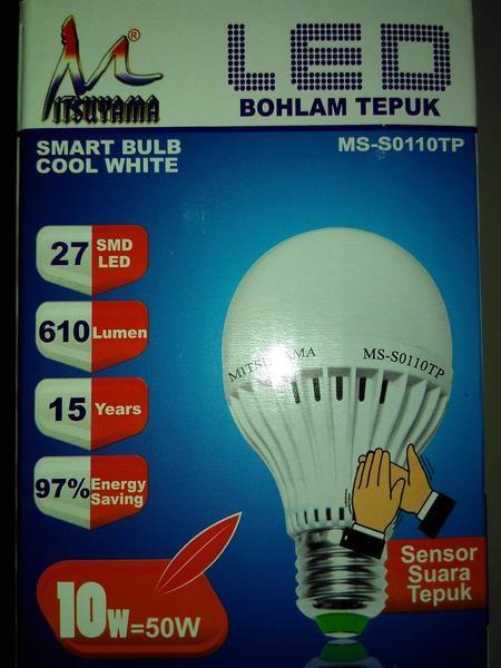 Foto Produk Lampu LED Sensor Tepuk / Bohlam LED Sensor Suara 10watt dari deday olshop