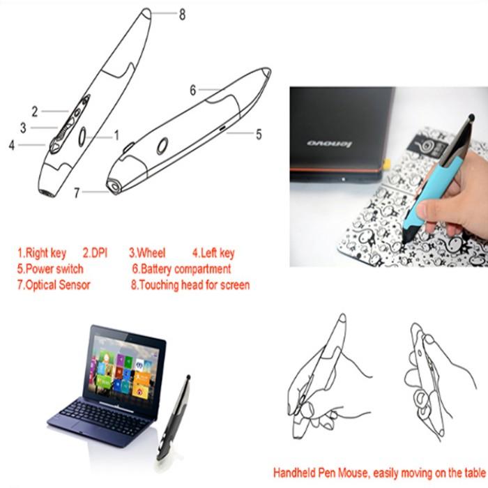 harga 2.4ghz wireless vertikal mouse pen + stand holder + stylus pen gadget Tokopedia.com