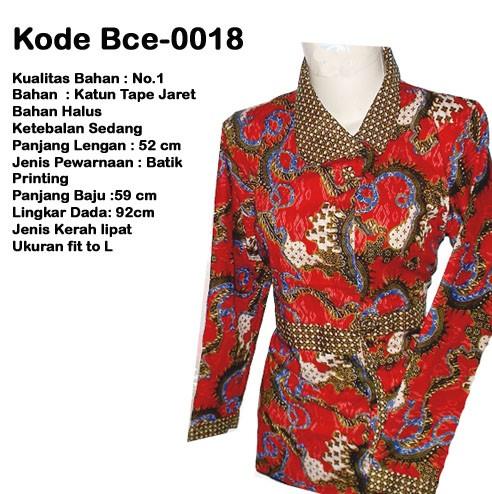 Jual Batik Model Terbaru Blouse Merah Pola Naga Modern Elegan Murah