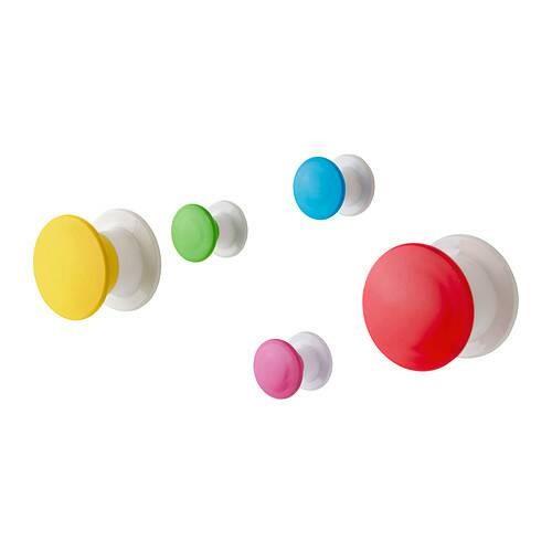 Ikea losjon ~ gantungan warna   kenop gantungan   knop 5 pcs