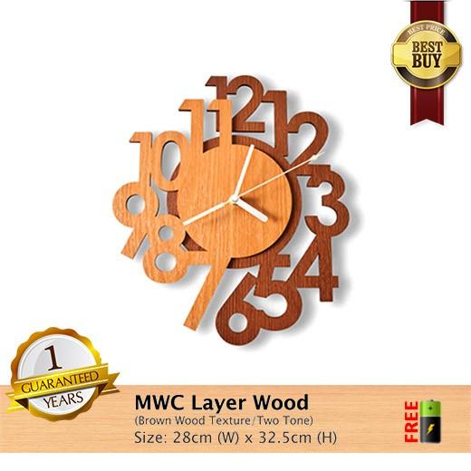 harga Jam dinding layer wood ~ modern with high quality woods Tokopedia.com
