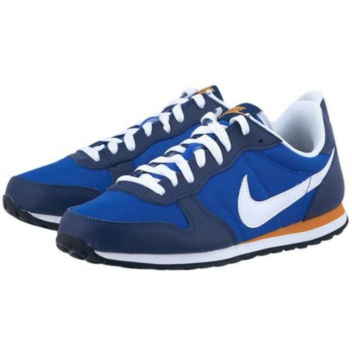 Sepatu running nike genicco biru original murah