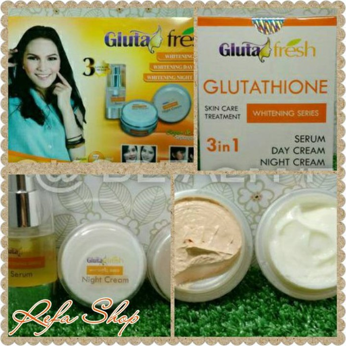 GLUTA FRESH 100% ORIGINAL 3 IN 1-WHITENING CREAM BPOM