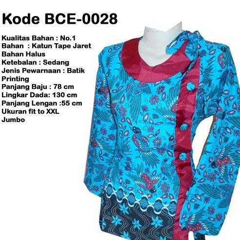 Jual Dress Batik Modern Model Terbaru Merah Biru Big Size Jumbo