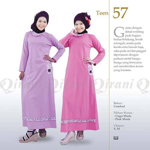 67 Model Baju Muslim Anak Remaja Perempuan HD Terbaik