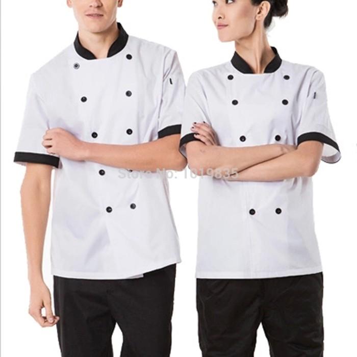 harga Baju koki/ baju chef/ kemeja koki lengan panjang & pendek Tokopedia.com