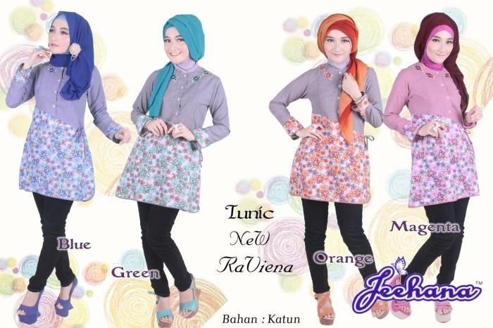 Foto Produk Model Baju Atasan Murah Tunik Jeehana New Raviena Motif Bunga dari SitusBelanjaku