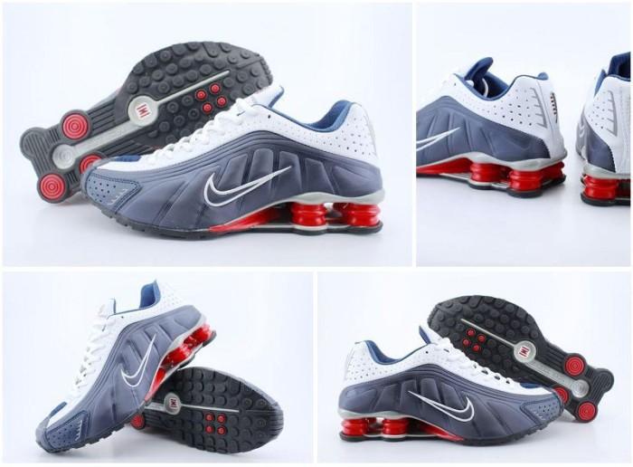 Jual Sepatu Sport Basket Nike Shox R4 Premium Original Vietnam Navy ... decd5a73f5