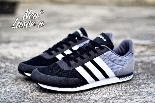 ... reduced sepatu adidas neo laser v run new editon warna hitam abu 51b85  953cf australia kumpulan harga sepatu adidas sport ... 4d6460426e