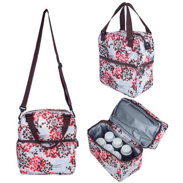 Jual Autunmz Posh Cooler Bag Henna Pink Brown Auntystore Tokopedia