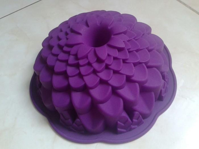 (loyang kue/puding ) cetakan silikon blossom a